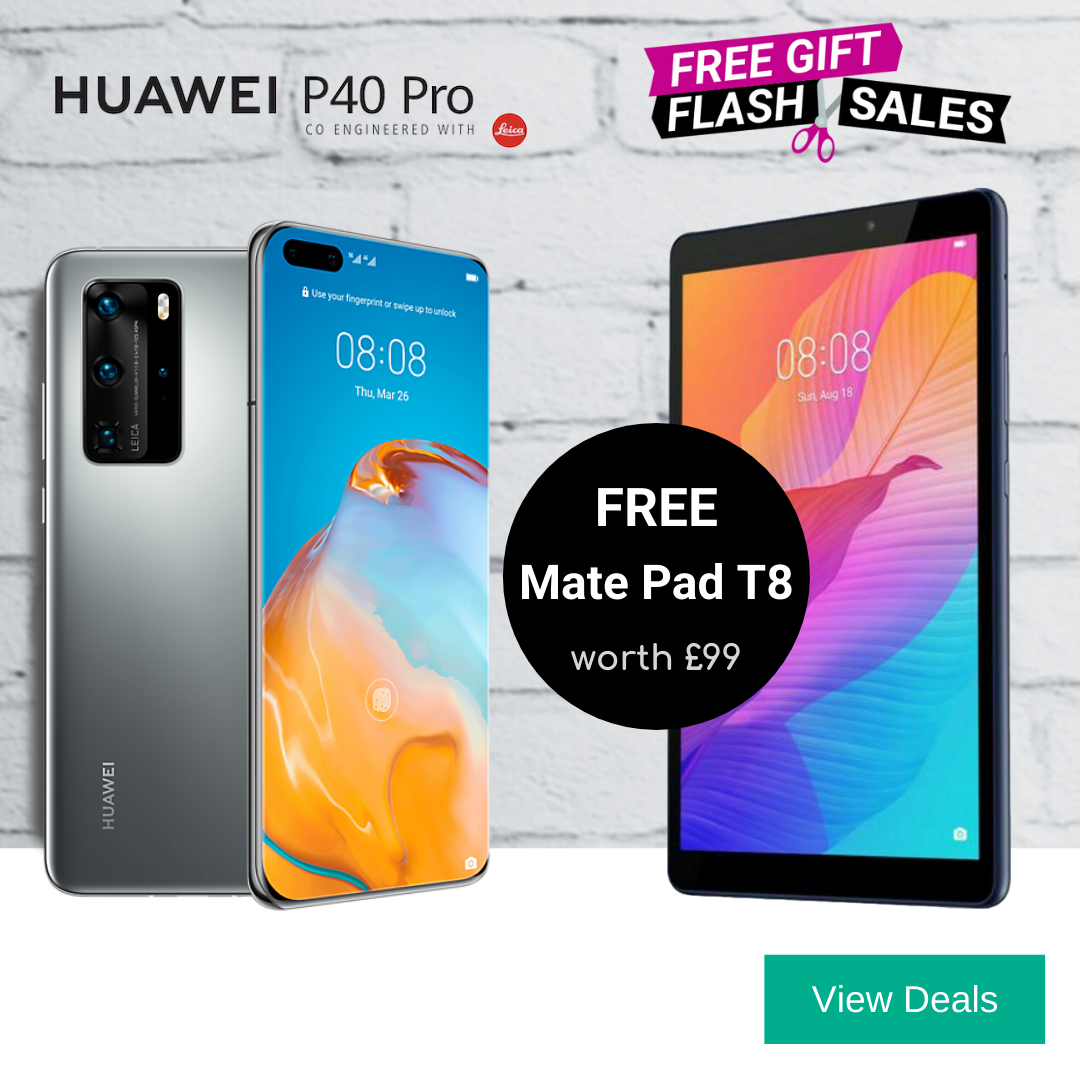Huawei P40 Pro deals with Free Huawei Mate Pad T8