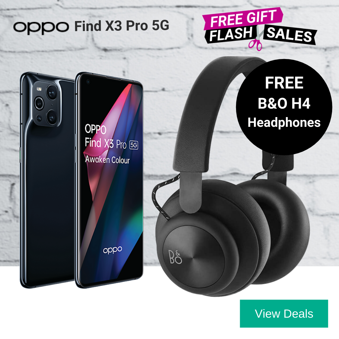 Oppo Find X3 Pro deals with free B&O H4 headphones