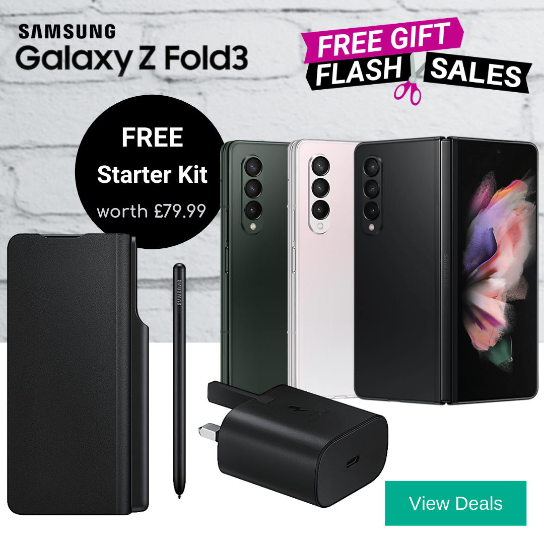 Free Gifts with Samsung Z Fold3 deals